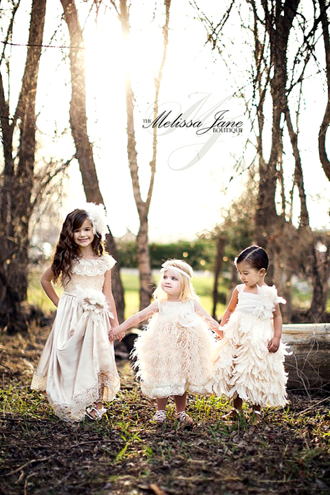 Flower Girl Dresses, from The Melissa Jane Boutique on Etsy