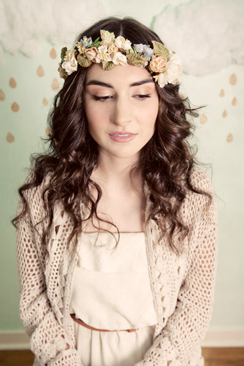 Tiny Blossoms Flower Crown, from mignonnehandmade on Etsy