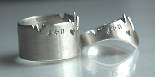 Cardiogram Rings, from No Jewelry