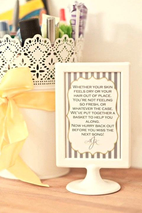 Bathroom Sign, from Emmaline Bride