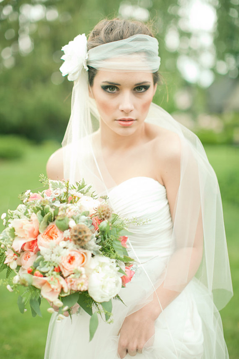 Wedding Veils with Flowers