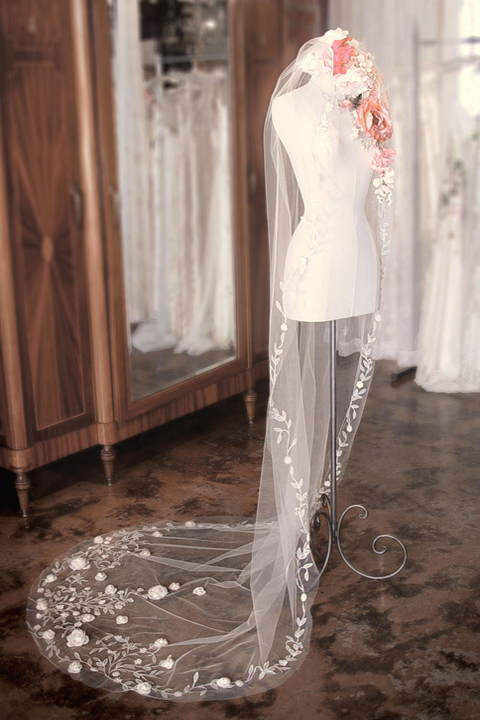 Spring Bloom Veil, found at www.clairepettibone.com