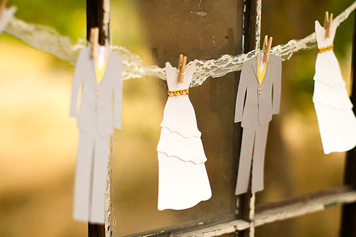 Bride and Groom Bunting, by Anastasia Marie