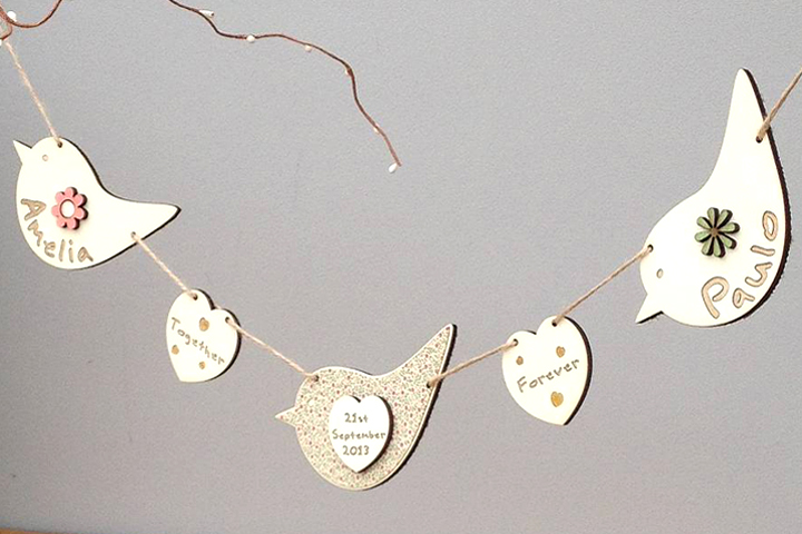 Personalised Bird Bunting by Neltempo