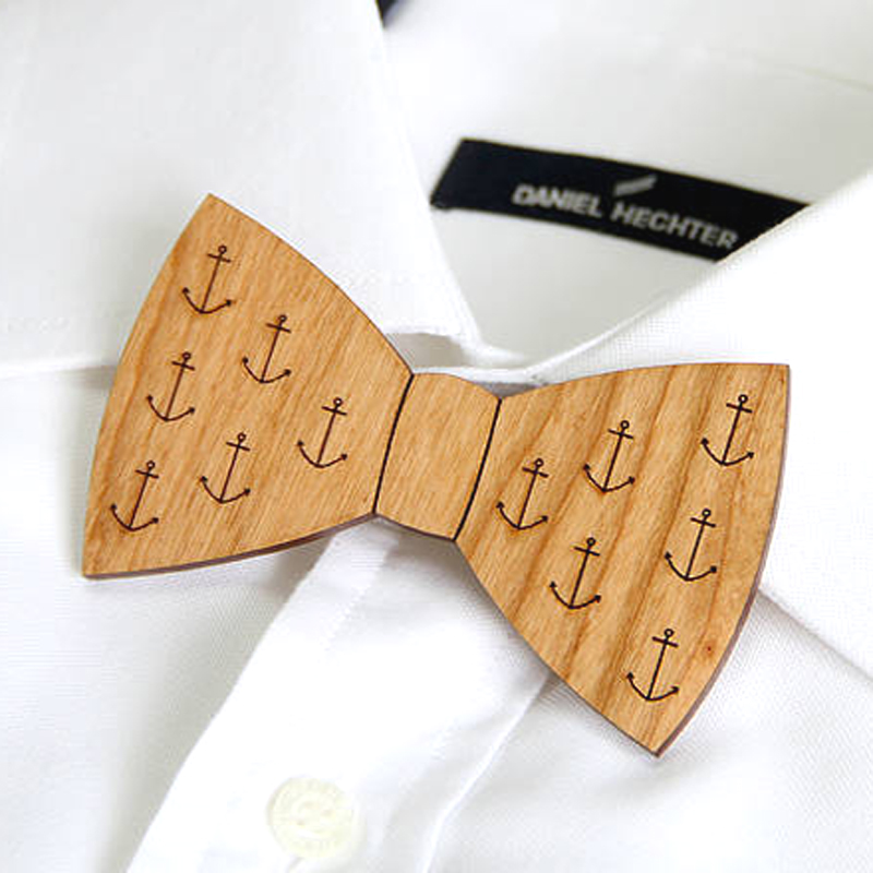 Wood Bow Tie, by Ladybird Likes