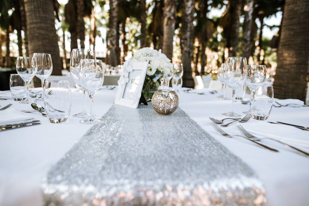 table runner wedding decoration hire in the algarve